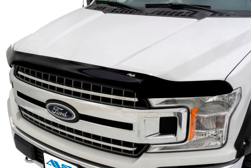 AVS 14-18 GMC Sierra 1500 High Profile Bugflector II Hood Shield - Smoke