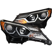 Load image into Gallery viewer, ANZO 2013-2015 Toyota Rav4 Projector Headlights w/ Plank Style Design Black