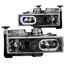 Load image into Gallery viewer, ANZO 1988-1998 Chevrolet C1500 Crystal Headlights Carbon w/ Halo