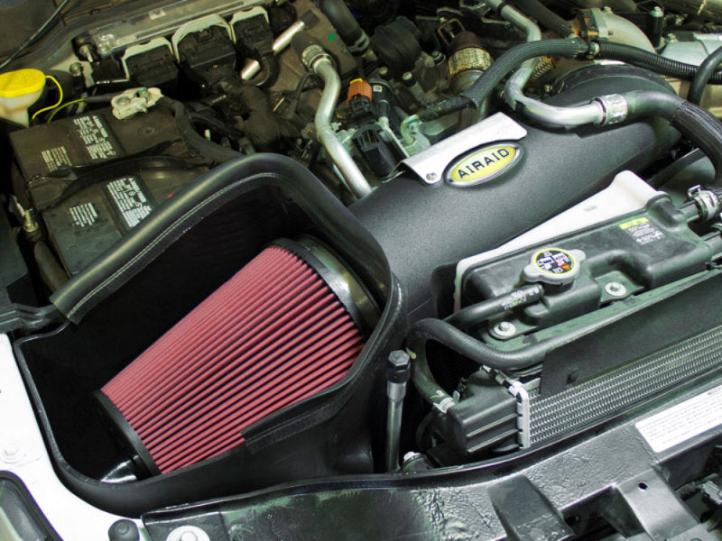 Airaid 11-14 Ford F-250/350/450/550 Super Duty 6.7L MXP Intake System w/ Tube (Dry / Red Media)
