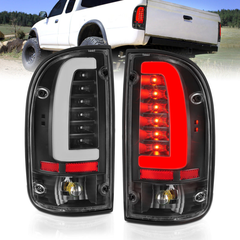 ANZO 1995-2004 Toyota Tacoma LED Taillights Black Housing Clear Lens (Pair)