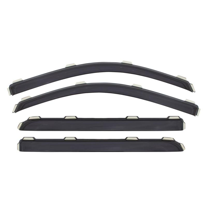 AVS 15-18 Cadillac Escalade Ventvisor In-Channel Front & Rear Window Deflectors 4pc - Smoke