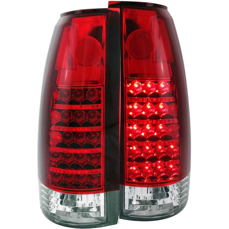 ANZO 1999-2000 Cadillac Escalade LED Taillights Red/Clear