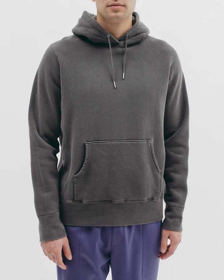 Natural Dyed Hoodie Fleece Charcoal