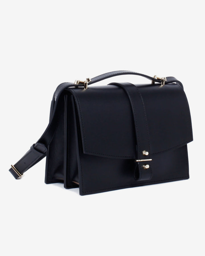 Mini Agnes Satchel Black