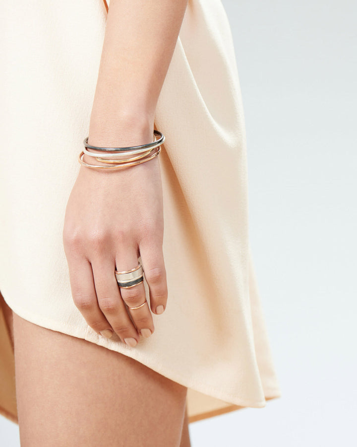 Thick Rose Gold Gibbous Cuff Bracelet
