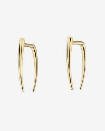 Infinite Tusk Earrings 14K Yellow Gold
