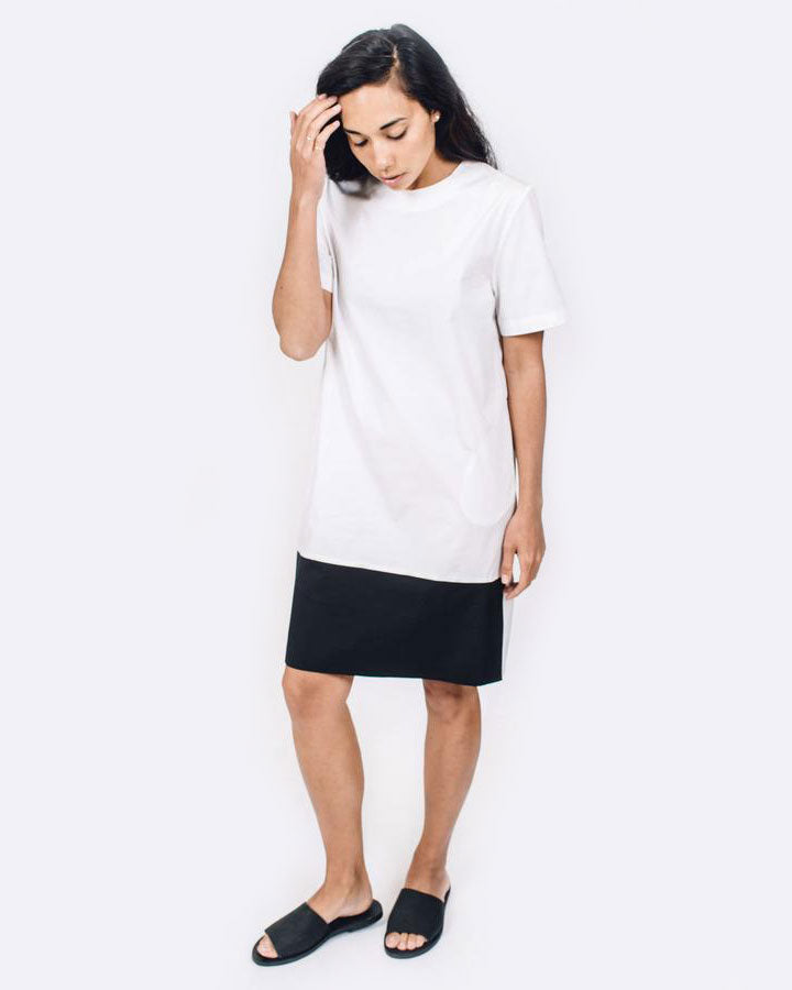 Contrast Shirt Dress