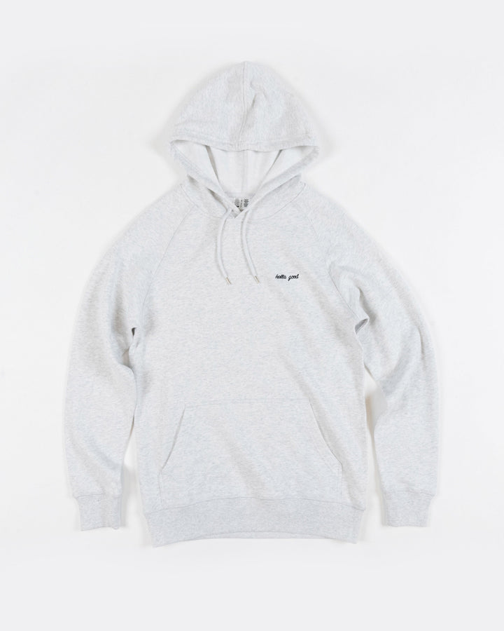 Hella Good Hoodie Lightweight Speckled White