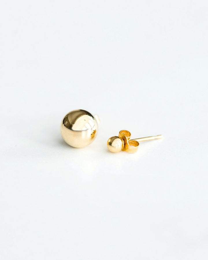 14K Asymmetrical Gold Ball Studs
