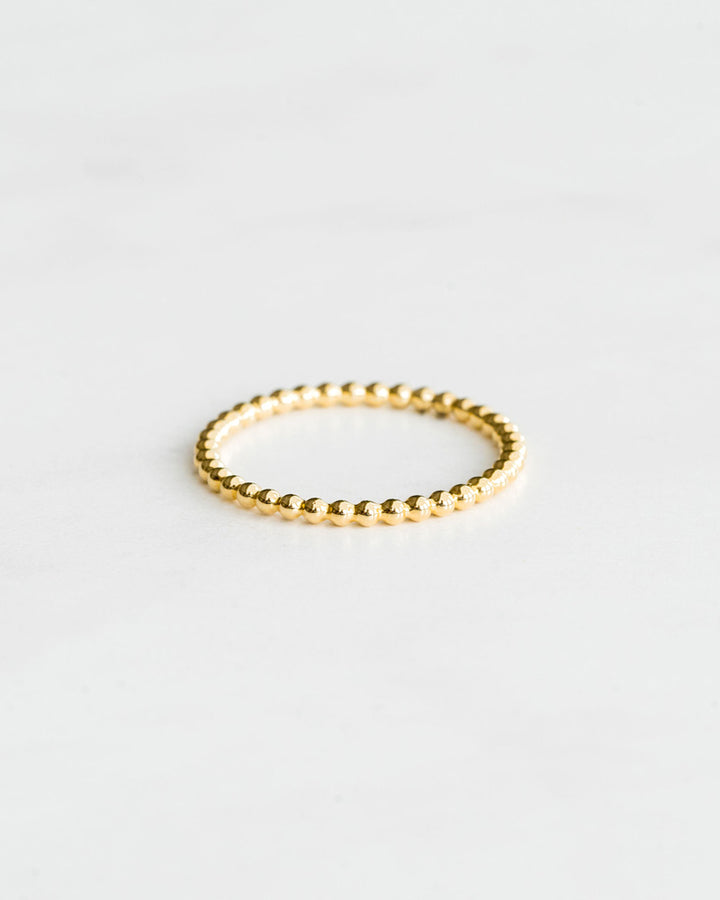 Tiny Ball Ring Yellow Gold