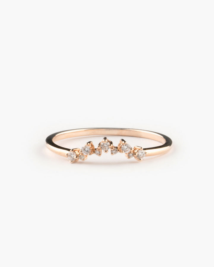 Star Constellation Diamond Band Rose Gold