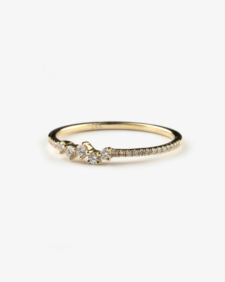 Mixed Shape Diamond Ring Yellow Gold