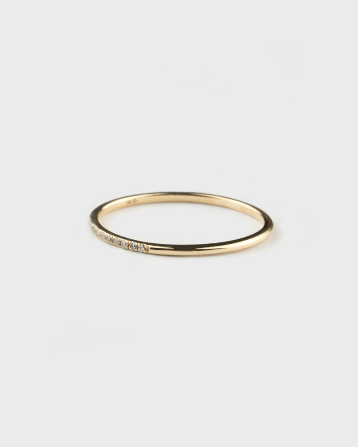 Pave Midi Ring Yellow Gold