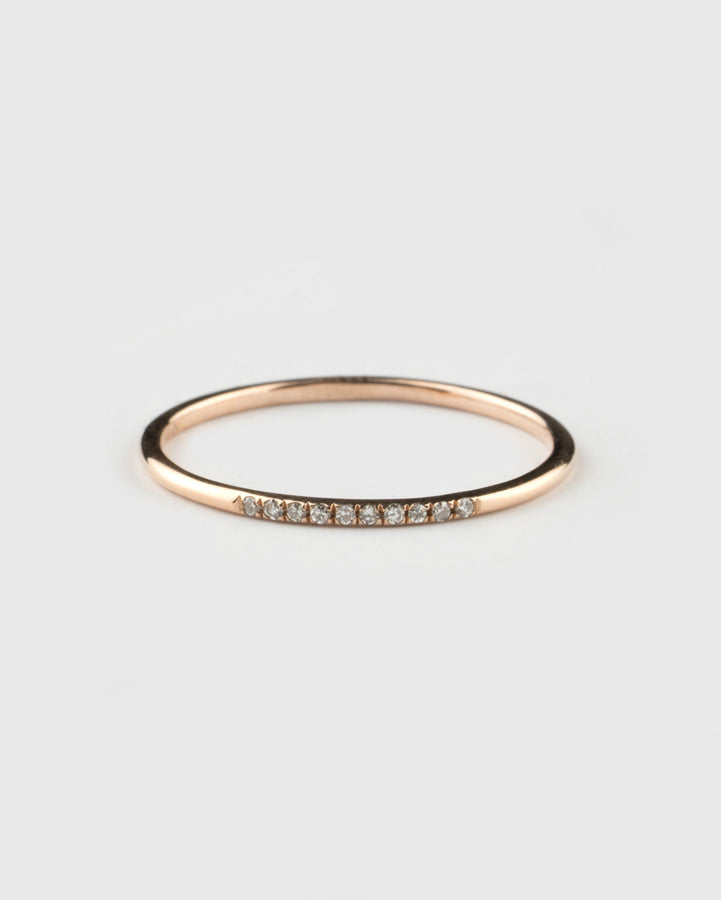 Pave Midi Ring Rose Gold