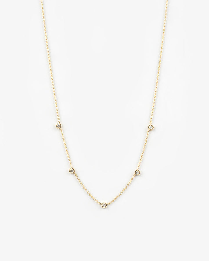 5 Set Diamond Dangling Necklace