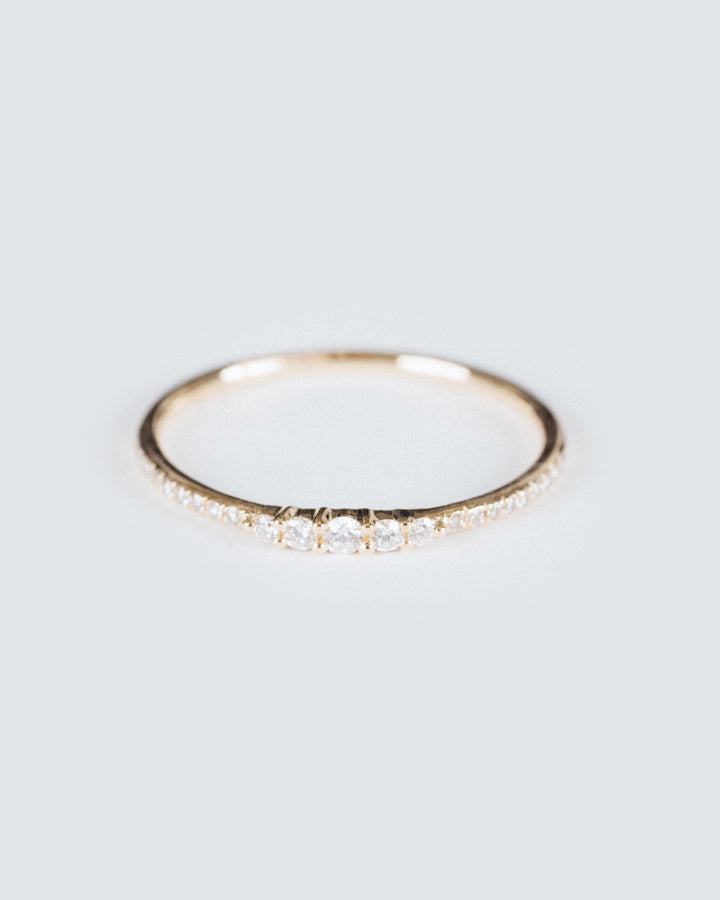 5 Diamond Gradual Ring Yellow Gold
