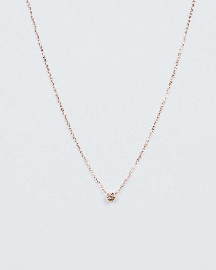 Classic Diamond Necklace Yellow Gold