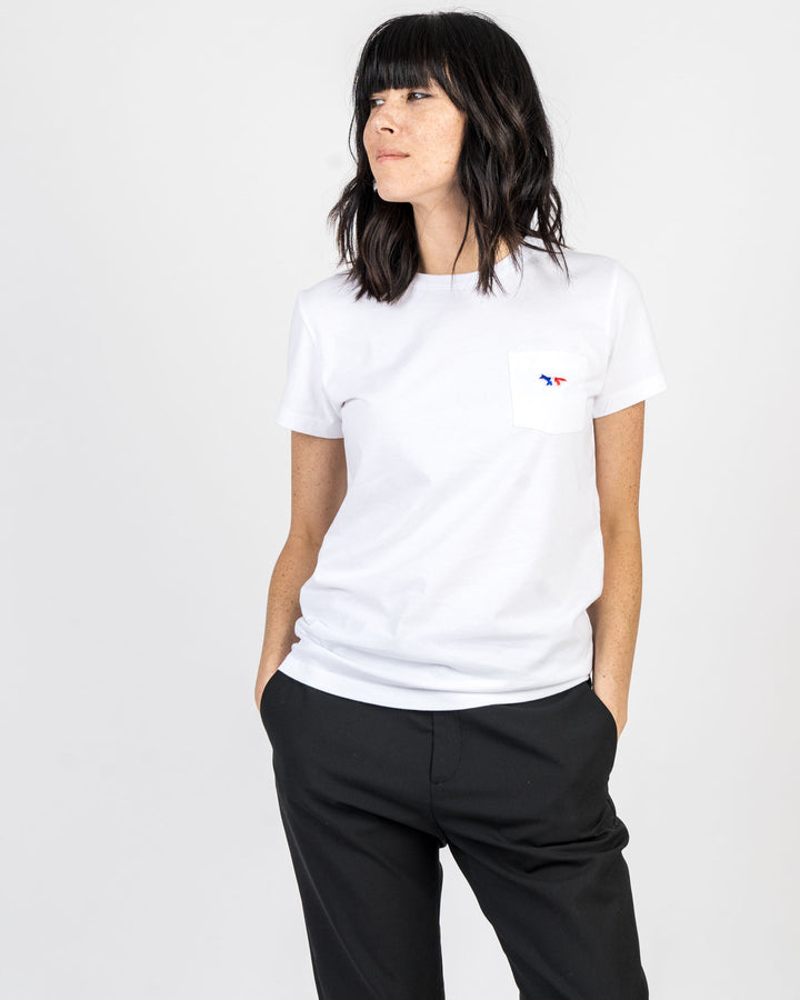 Tricolor Fox Pocket Tee