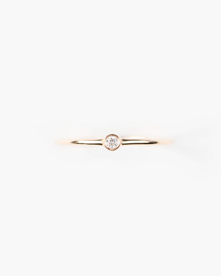 Rose Cut Bezel Diamond Ring