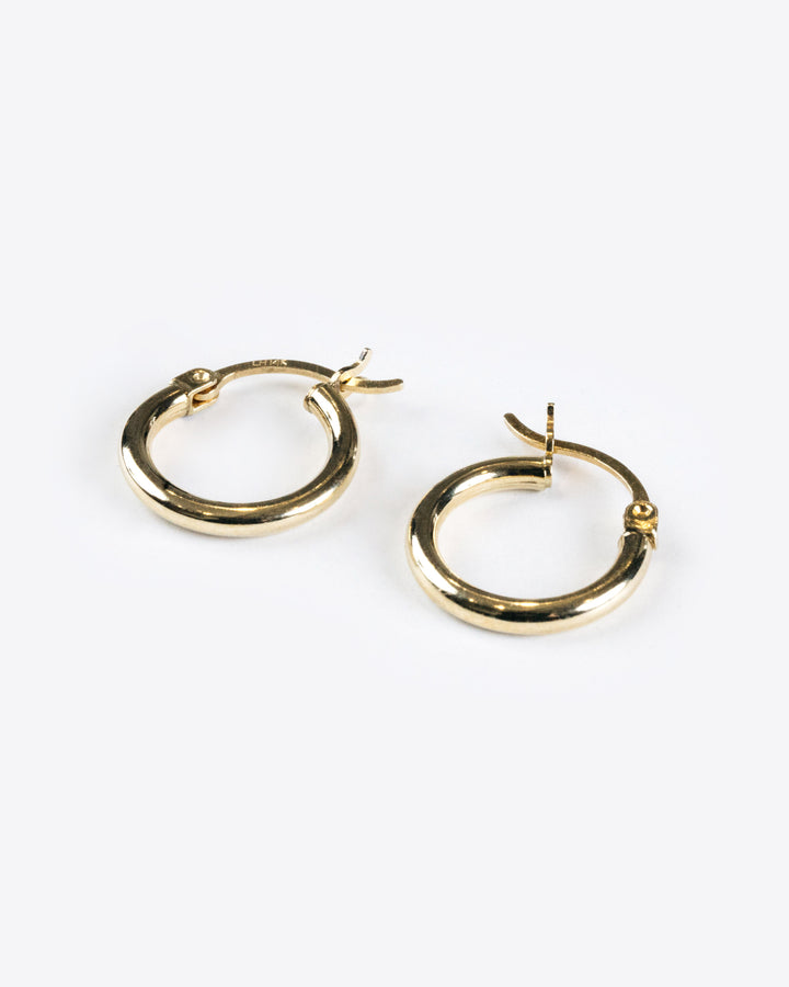 14k Yellow Gold Small Hoops