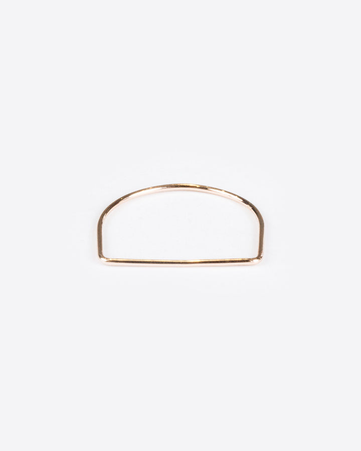 Flat Ring 10k Rose Gold