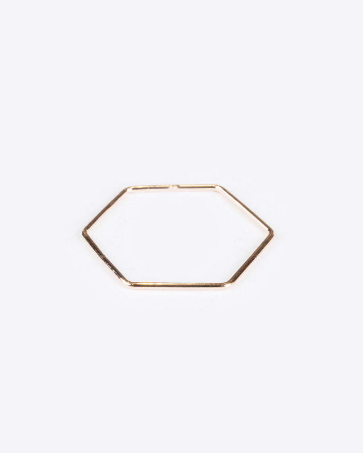 Hexagon Ring 10k Rose Gold