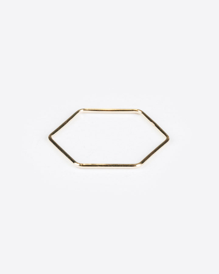 Hexagon Ring 10k Yellow Gold