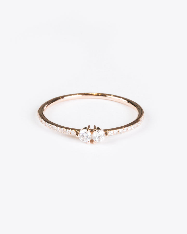 Split Diamond Ring Rose Gold