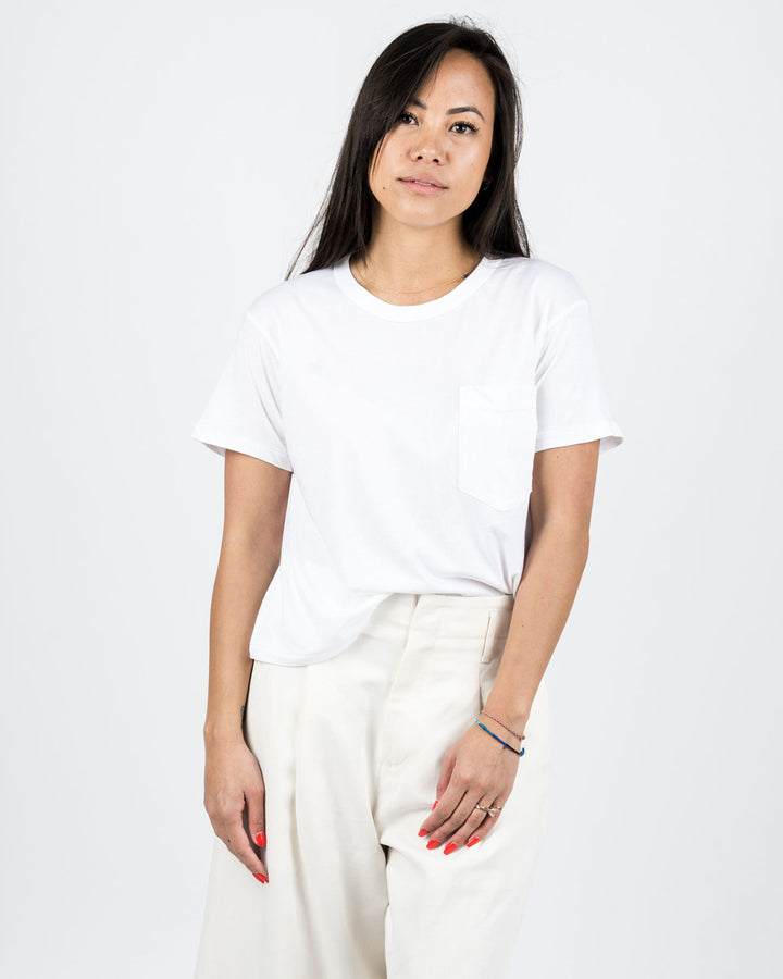 Crop Jaq Tee White