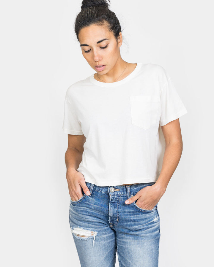 Crop Jaq Tee Natural