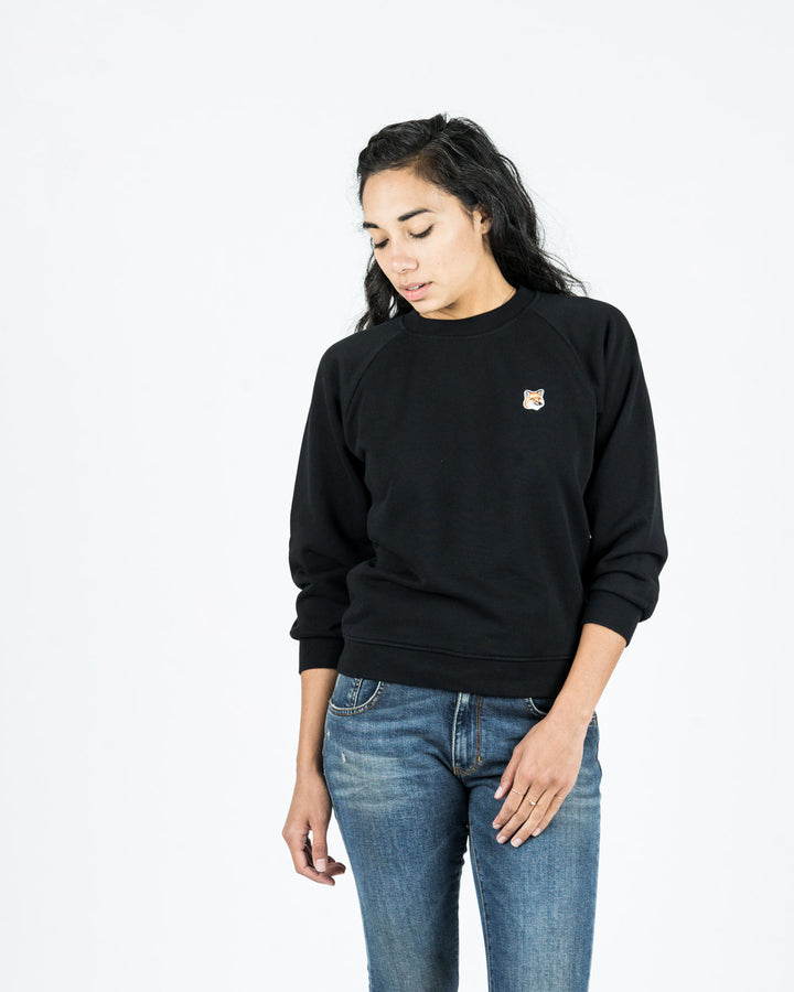 Fox Head Patch Sweatshirt Black