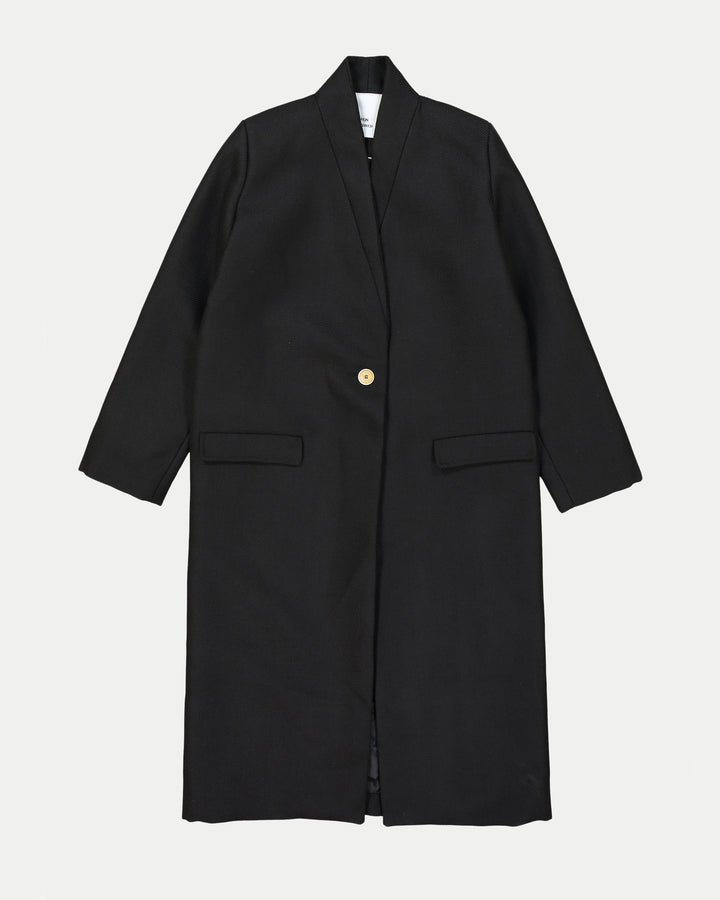 Estelle Black Wool Coat