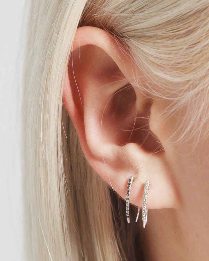 Classic Pave Infinite Tusk Earring
