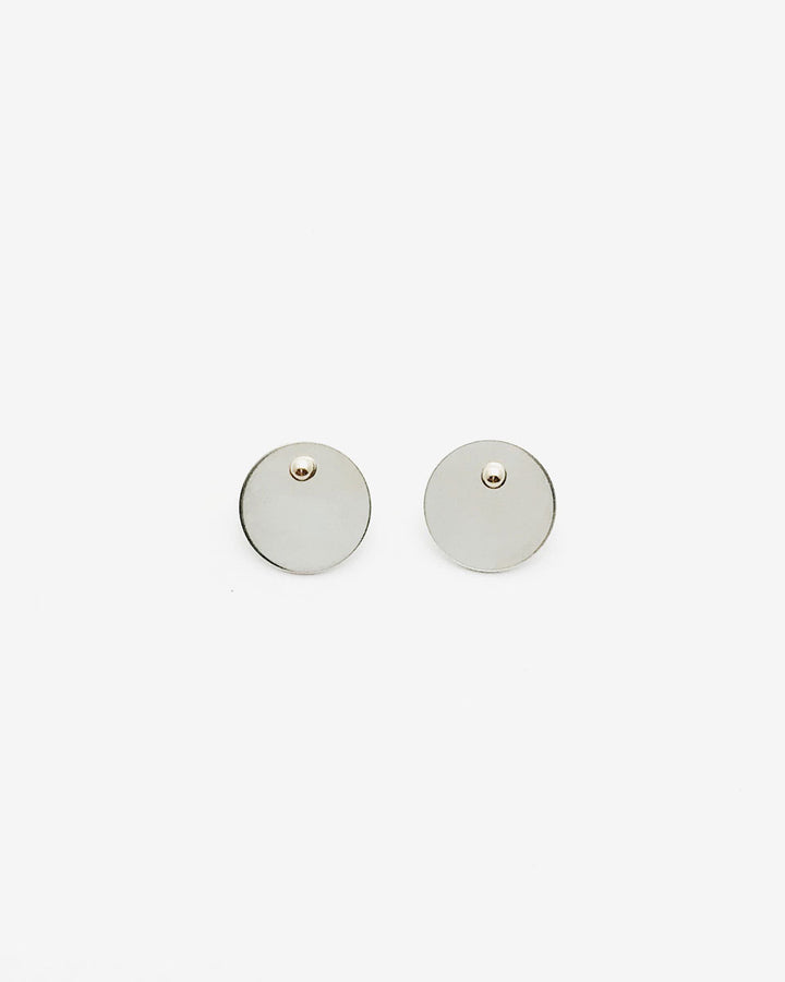 Mini Mix Master Disc Gold + Sterling Silver Earrings