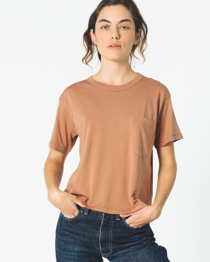 Crop Jaq Tee Clay