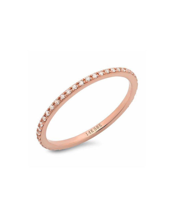 Classic Eternity Band 14k Rose Gold White Diamonds
