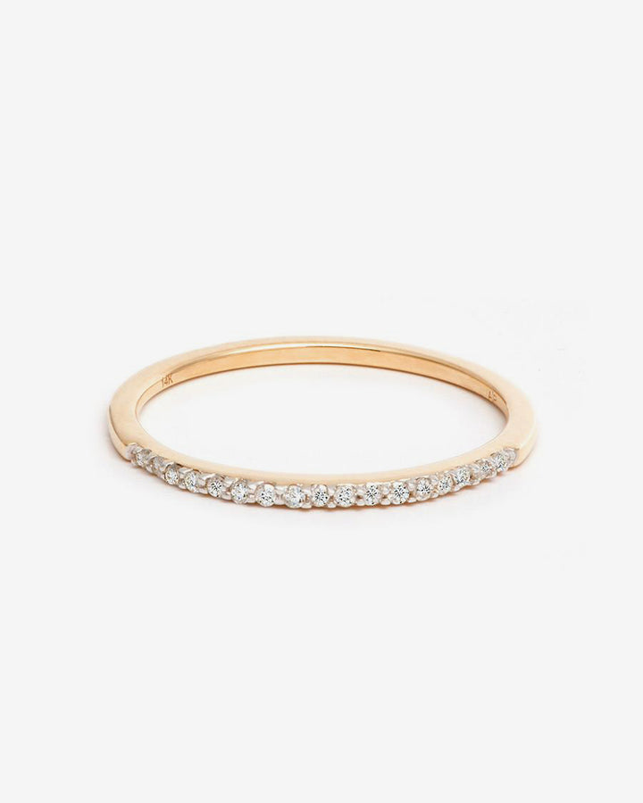 Pave Band Ring 14k Yellow Gold