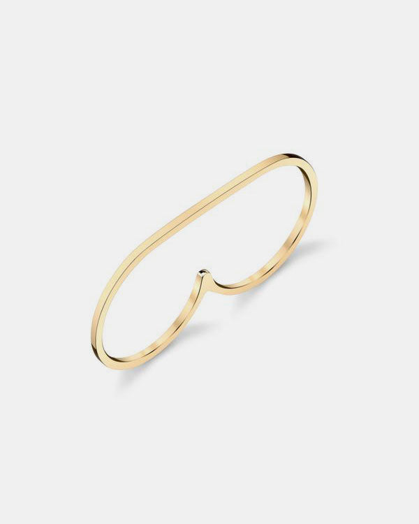 Infinite Staple Two Finger Ring