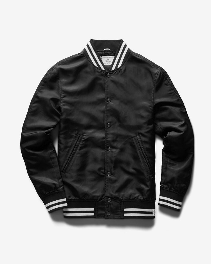 Satin Embroidered Stadium Jacket