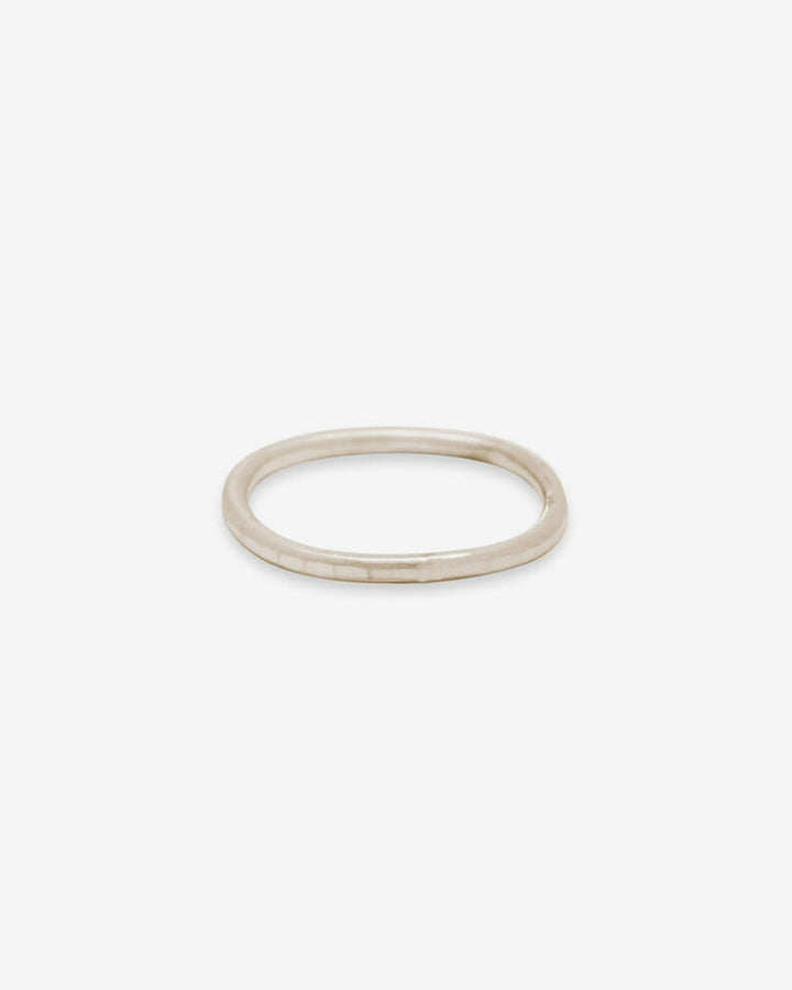 Thin Individual Round Ring Yellow Gold