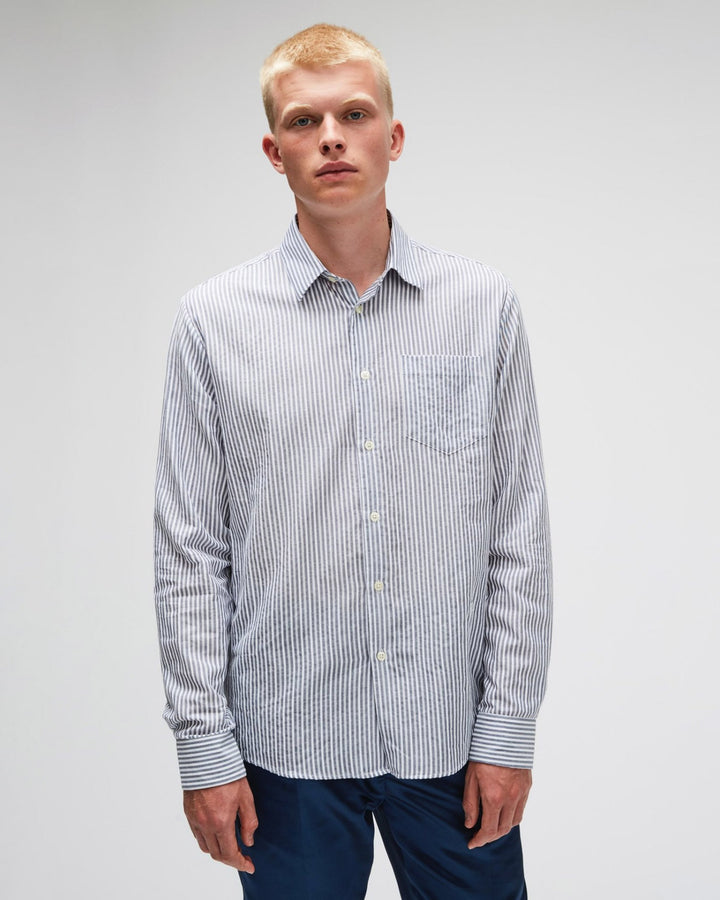 Huttnutt Striped Shirt Grey/White