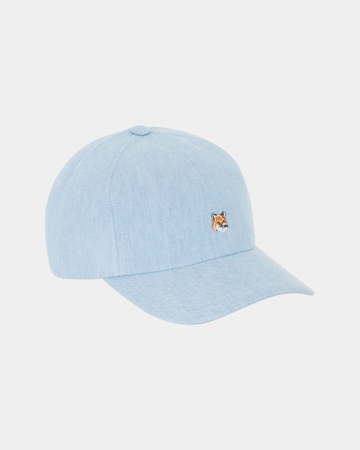 6 Panel Cap Small Fox Chambray