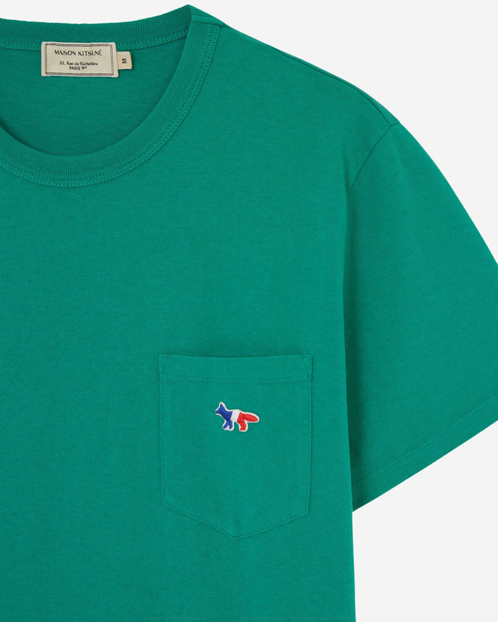 Tricolor Fox Pocket Tee Green