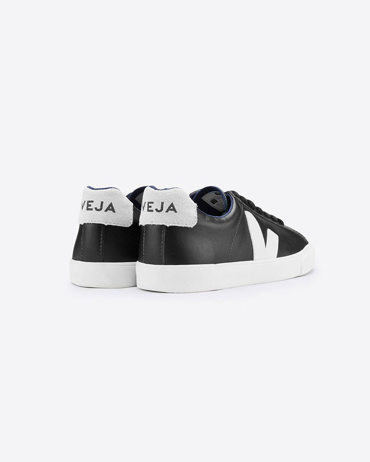 Esplar Low Leather Black White