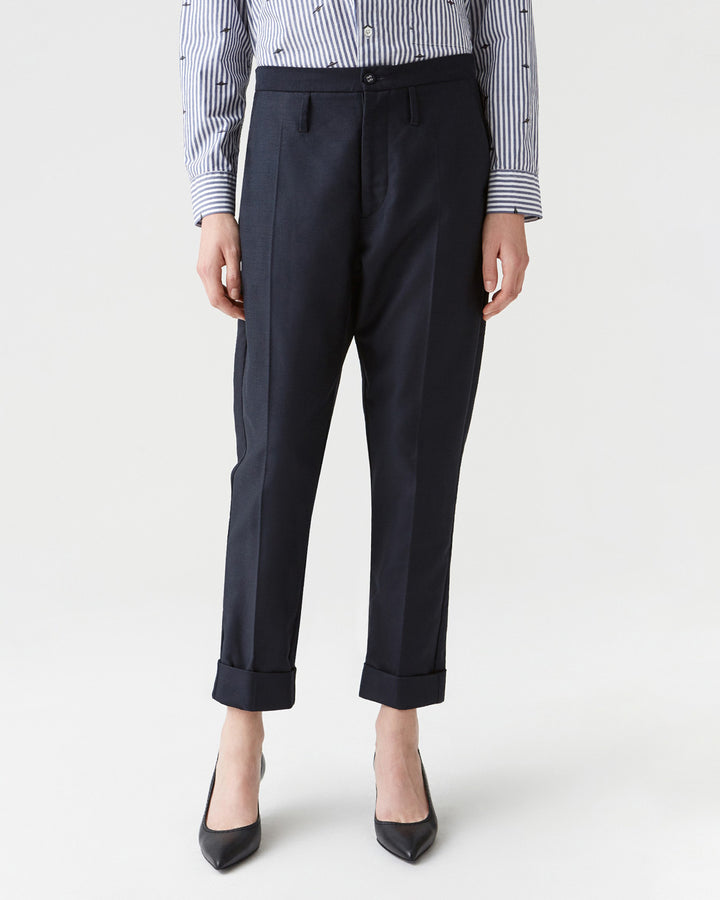 Law Trouser Dark Navy
