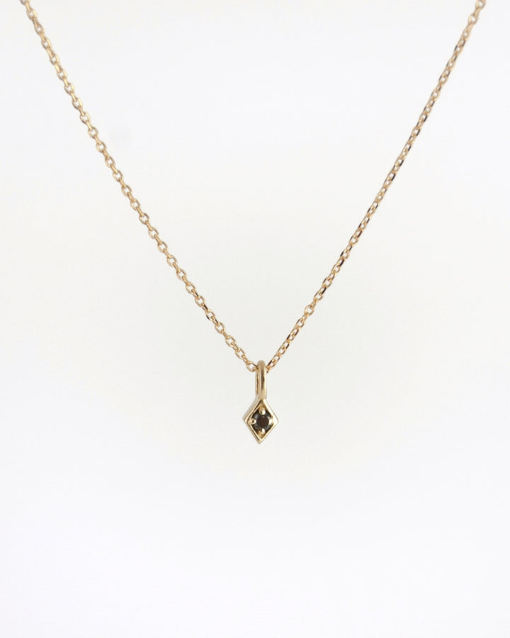 Golden Kite Necklace Black Diamond