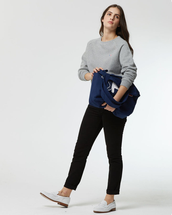 Tricolor Fox Sweatshirt Grey Melange