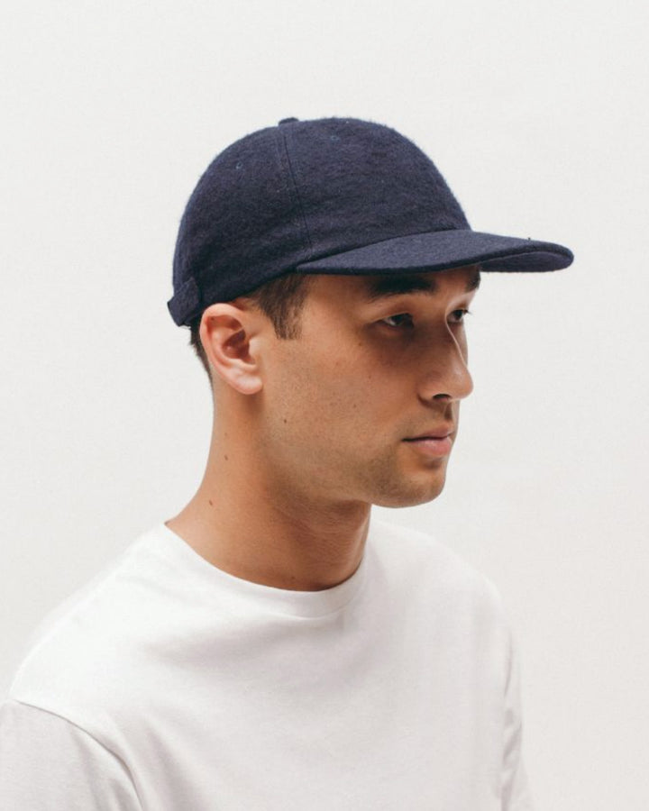 Brushed Wool Cap Navy
