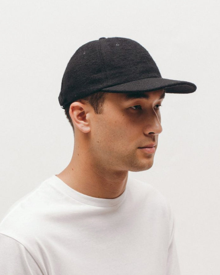Brushed Wool Cap Black
